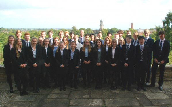 The Headmaster with the Honorary Scholars, Honorary Exhibitioners and Examination Prizewinners