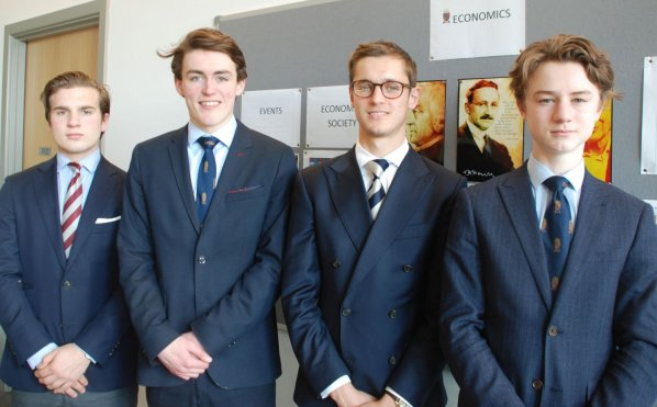'Target Two Point Zero' national finalists Max Yale, Harris Huntsman, Mathew Hedges, George Hargrave