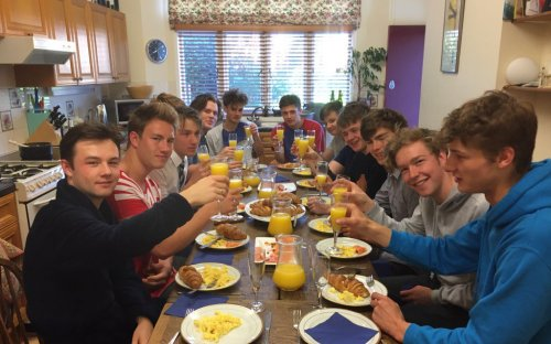 Upper Sixth celebrate last day of lessons