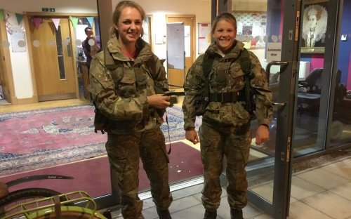 Royal Marine Cadets Lizzie and Emma off for more training