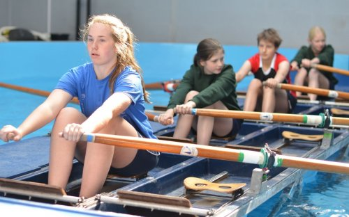 """Maddy: """"It's just all been good – especially the rowing. Walking back to Moser's feels like walking home from school. I've chosen to do beekeeping because I love honey on toast so much!"""""""
