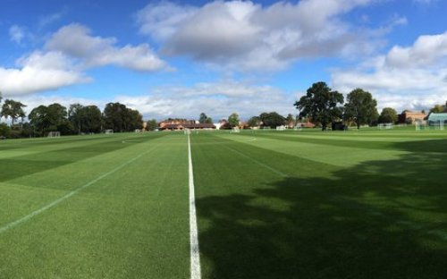 The sun shone again for the 1st XI's first match in their ISFA Boodles Cup campaign