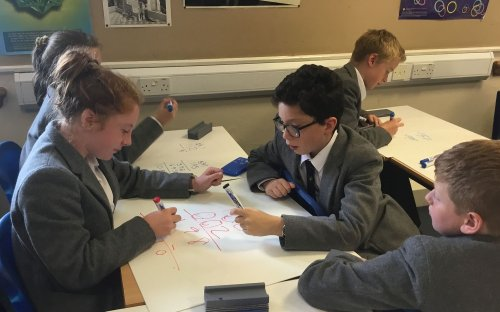 Year 7 and 8 pupils from local schools enjoyed a 'Magical Maths' workshop