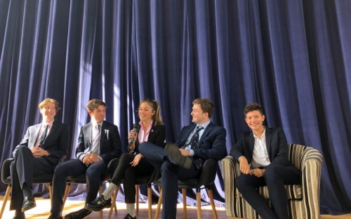 In a Pupil Forum, five Upper Sixth Formers spoke inspiringly about their learning journeys at Shrewsbury School