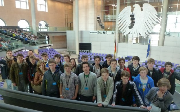The group at the Reichstag