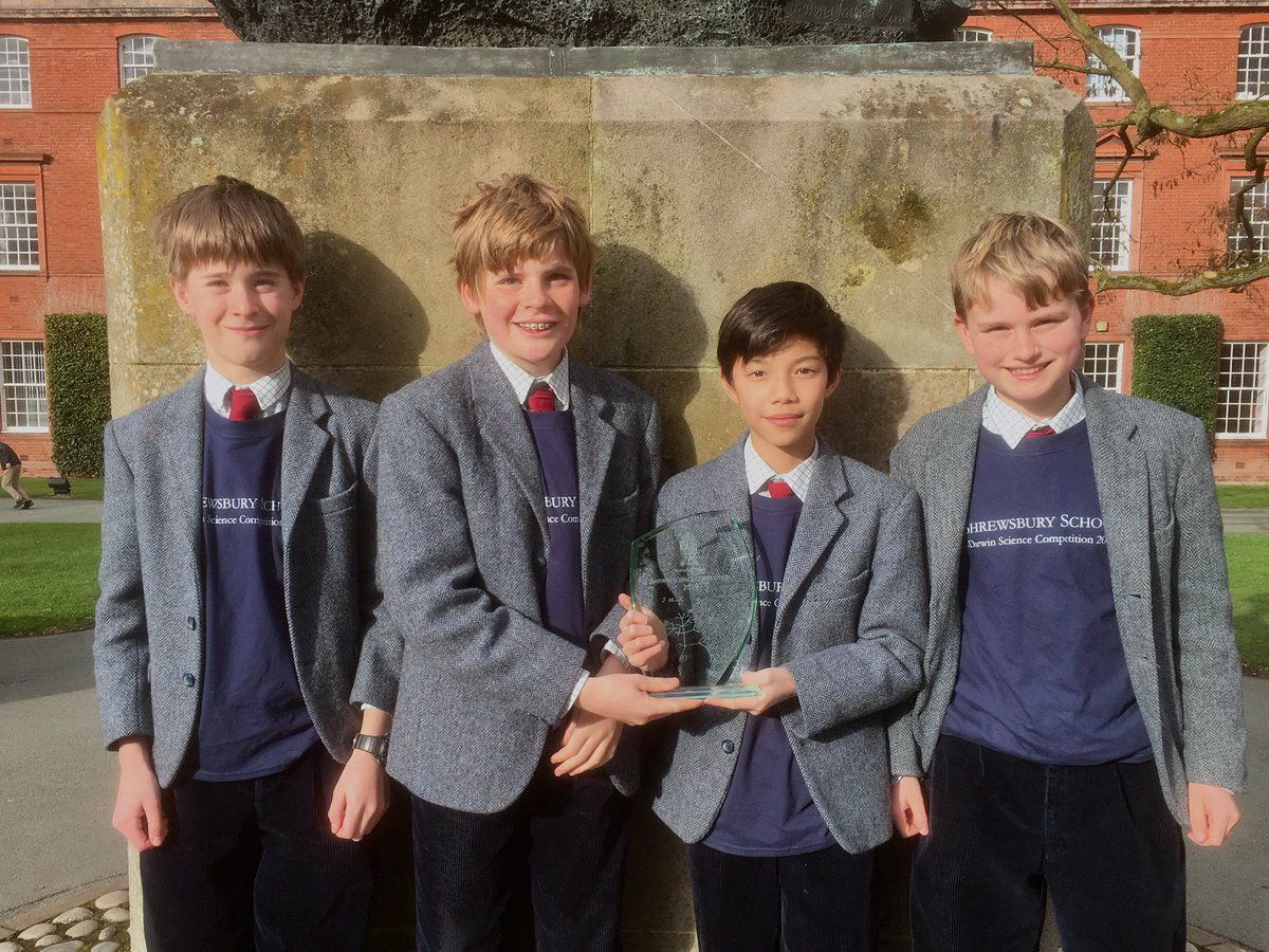 Darwin Science Competition 2019 winners - Cothill 1