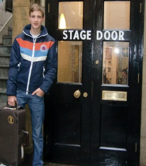 Henry by the Stage Door of the Savoy Theatre