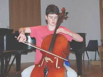 Jacob practising in The Maidment