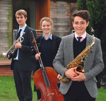Shropshire Concerto Competition semi-finalists: Harry Sargeant, Awen Blandford and Henry Newbould