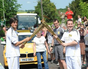 OS Philip Wood (R) taking on the flame