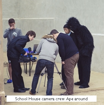 School House camera crew Ape about