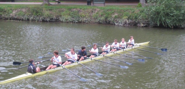 Severn Hill Third Form - first time on the river