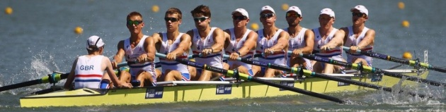 Tom stroking the GB crew to a bronze in the 2012 World Championships