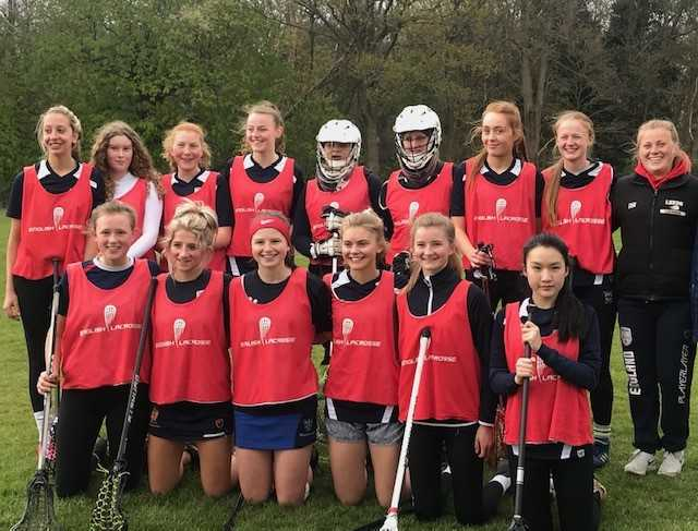 Isabel with the North England Lacrosse team