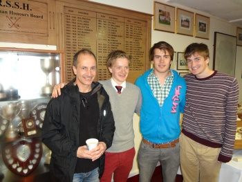 The four Blakes: Father David, Senior Whip Seb, Alex & Kris