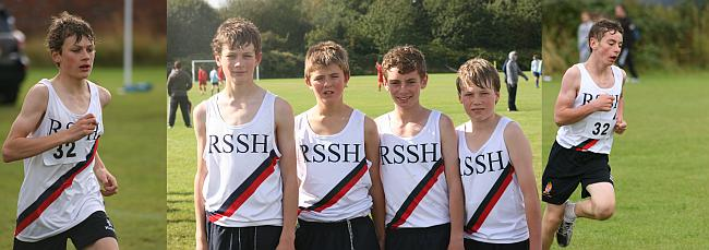 The winning Junior team at Manchester Relays 2011 L-R: Tom Sykes (PH), Oli Pope (PH), Oscar Dickins (R) and Ben Remnant (Ch)